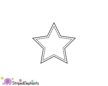Stitched Star Clip Art