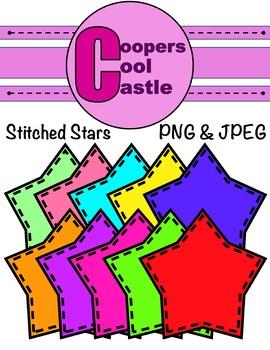 Stitched Stars (Digital Clip Art)