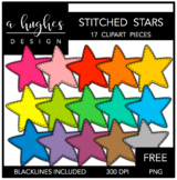 FREE Stitched Stars Clipart {A Hughes Design}