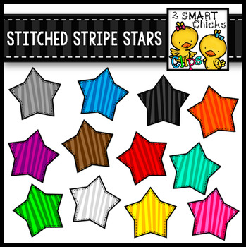 Stitched Stripe Stars