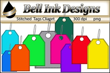 Stitched Tags Clipart