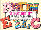 "Stitches 2! Clip Art Alphabet, 99 PNGs, 3.5"" 300 DPI  Vector and PNG"