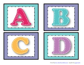Stitches ABC Flashcards