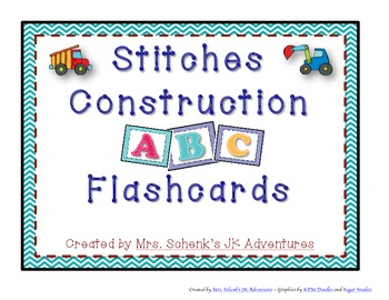 Stitches Construction ABC Flashcards