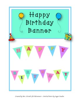 Stitches Happy Birthday Banner