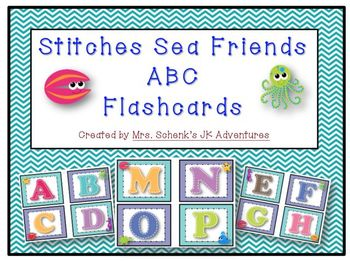 Stitches Sea Friends ABC Flashcards