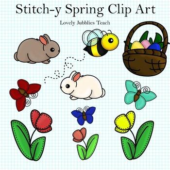 Stitchy Spring Clip Art