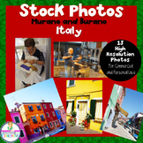 Stock Images of Murano and Burano Italy