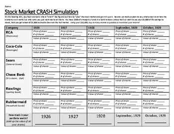 Stock Market Crash Simulation