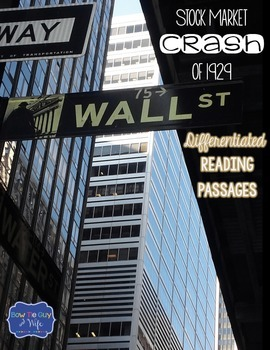 Stock Market Crash of 1929 Differentiated Reading Passages