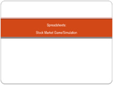 Stock Market Game Simulation using Excel or Google Sheets