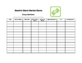 Stock Market Game Spreadsheet
