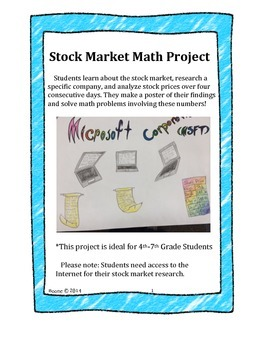 Stock Market Math Project and Poster
