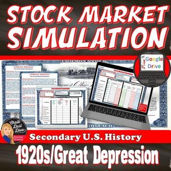 Great Depression Stock Market Simulation Game Us History Tpt