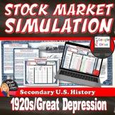 Great Depression   Stock Market Simulation Game   1920s   U.S. History