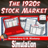Great Depression - Stock Market Simulation Game (U.S. History)