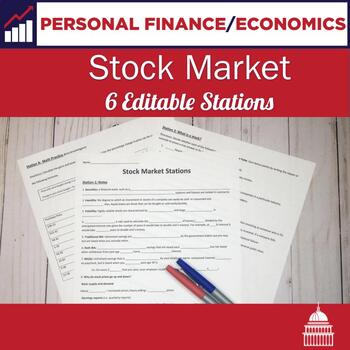 Stock Market Stations Lesson