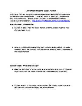 Stock Market--Understanding the Basics