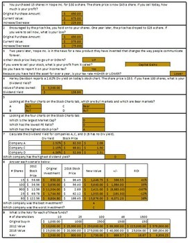 Stock Market Unit Review & Exam