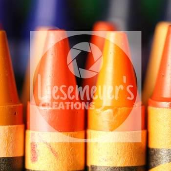 Stock Photo 31 - Orange Crayons - Commercial Use for Teacherpreneurs
