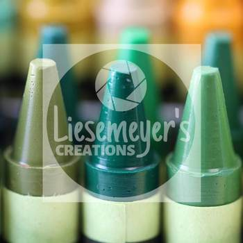 Stock Photo 39 - Green Crayons - Commercial Use for Teacherpreneurs