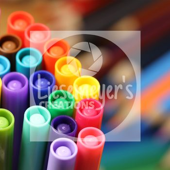 Stock Photo 6 - Pencils & Markers - Commercial Use for Teacherpreneurs