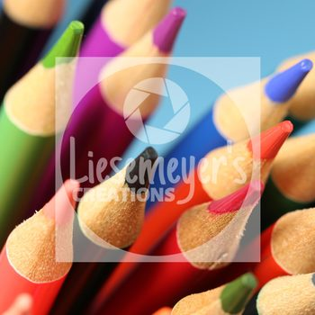 Stock Photo 7 - Colored Pencils - Commercial Use for Teacherpreneurs