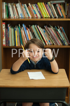 Stock Photo: Angry Student-Personal & Commercial Use