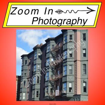 Stock Photo: Boston Apartment Buildings