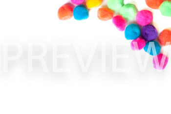 Stock Photo: Bright PomPoms #3 -Personal & Commercial Use
