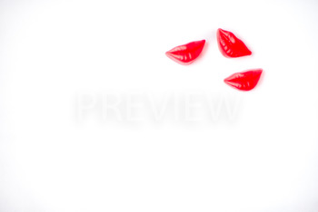 Stock Photo: Valentine's Lips-Personal & Commercial Use