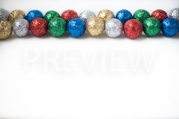 Stock Photo: Christmas Ball Garland (Glitter) #2 -Personal & Commercial Use