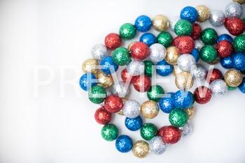 Stock Photo: Christmas Ball Garland (Glitter) #3 -Personal