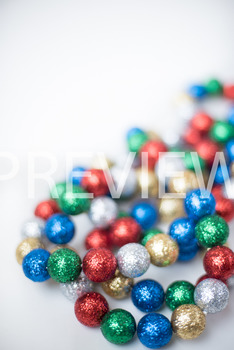 Stock Photo: Christmas Ball Garland (Glitter) #5 -Personal & Commercial Use