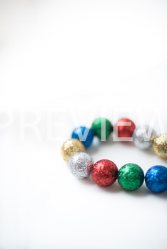Stock Photo: Christmas Ball Garland (Glitter) #1-Personal