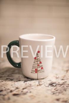 Stock Photo: Christmas Coffee Mug -Personal & Commercial Use