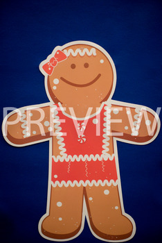 Stock Photo: Christmas Gingerbread Man -Personal & Commercial Use