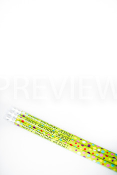 Stock Photo: Christmas Happy Birthday Jesus Pencils- Personal & Commercial Use