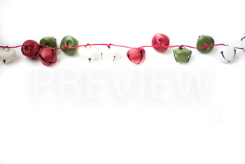 Stock Photo: Christmas Jingle Bell Garland #1 -Personal &