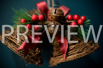 Stock Photo: Christmas Jingle Bells with Holly #2 -Personal & Commercial Use