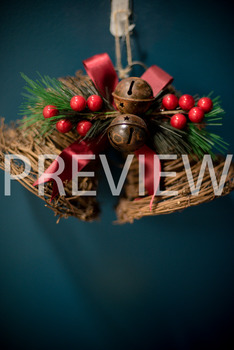 Stock Photo: Christmas Jingle Bells with Holly #1 -Personal & Commercial Use