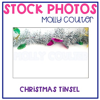 Stock Photo: Christmas Tinsel Garland/Banner -Personal & Commercial Use