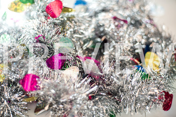 Stock Photo: Christmas Tinsel Garland Pile-Personal & Commercial Use