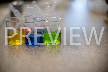 Stock Photo: Colored Beakers (Science lab) -Personal & Commercial Use