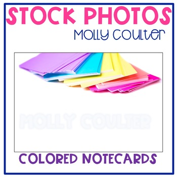 Stock Photo: Colored Notecards -Personal & Commercial Use