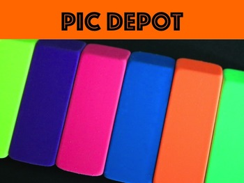 Writing Stock Photo Colorful Erasers