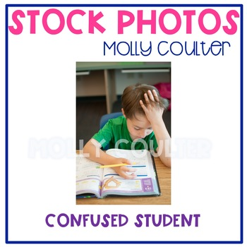 Stock Photo: Confused Student -Personal & Commercial Use