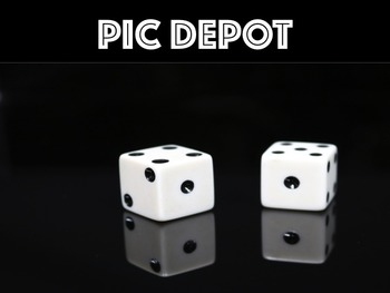 Math Games Stock Photo Dice Reflection