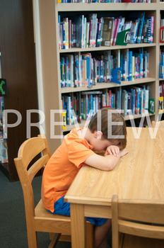 Stock Photo: Discouraged Student -Personal & Commercial Use