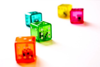 Stock Photo: Double Dice 4